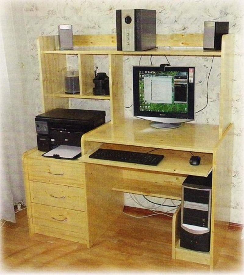 Компьютерный столик своими руками